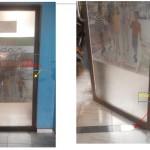 Pintu kaca frame aluminium