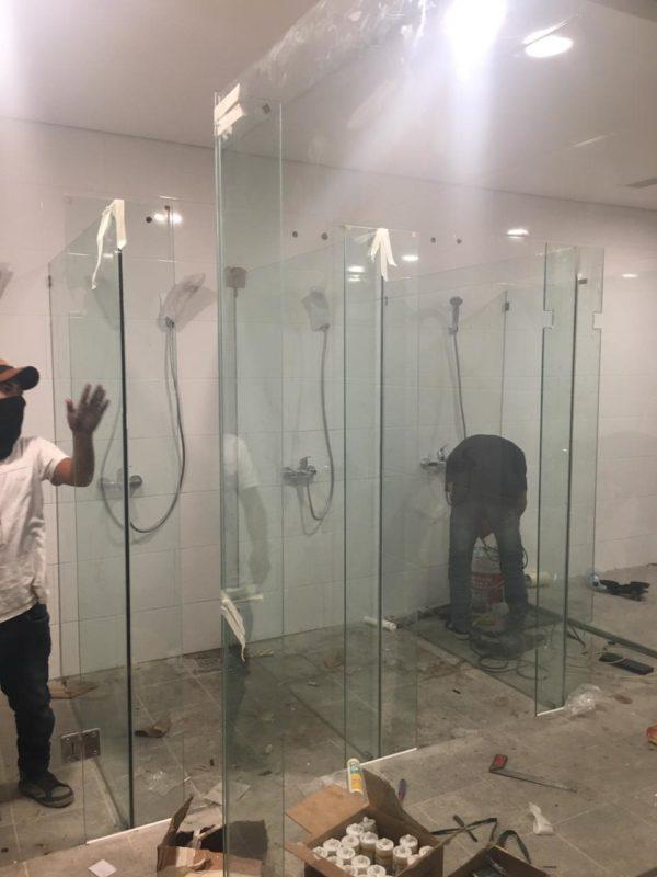 kaca shower kamar mandi tempered